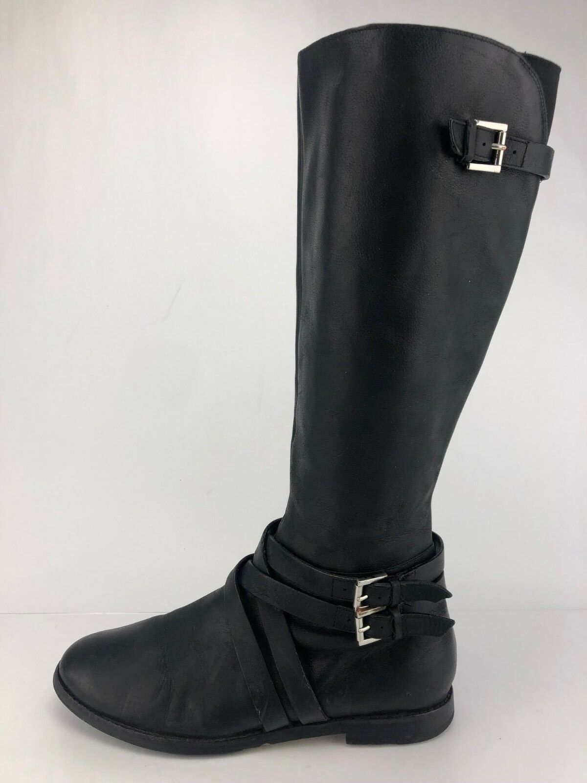 Cole Haan Air Knee High Boots Dress Black Leather Fashion Booties Womens 9 B
