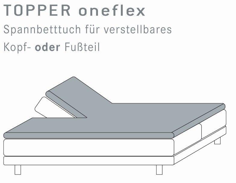 Topper Spannbetttuch 180x200 cm mit Einschnitt Kneer Q22 Spannbettlaken geteilt
