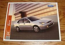 Original 2004 Ford Focus Sales Brochure 04 ZX3 ZX5 ZTS ZTW LX SE