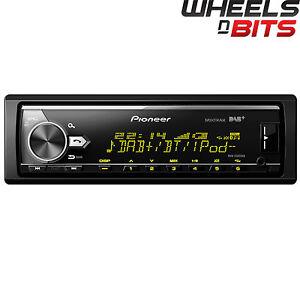PIONEER-MVH-X580DAB-SENZA-PARTI-MOBILI-BLUETOOTH-USB-DAB-autoradio-ipod-iphone