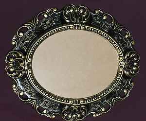 bilderrahmen oval barock schwarz gold 45x38 fotorahmen bilderrahmen mit glas ebay. Black Bedroom Furniture Sets. Home Design Ideas