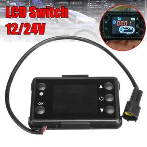 12-24V-LCD-Bedienelement-Digital-Vorwahluhr-fuer-Diesel-Luftheizung