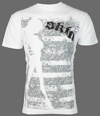 SKIN INDUSTRIES Mens T-Shirt INSIDE OUT Racing Biker WHT Fox Metal Mulisha $30