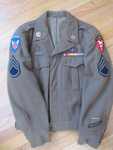 WW2-11th-Airborne-US-Army-Ike-Jacket-With-Jump-Wings-amp-Oval