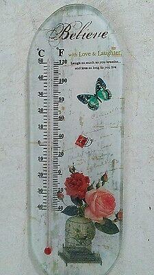 Termometro Parete Termometro Roses Believe... Temperatura Indoor-r Roses Believe..temperatur Aussenthermometer It-it Una Gamma Completa Di Specifiche