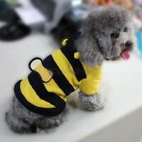 Pet Dog Cat Fleece Bumble Bee Warm Wing Hoodie Costume Coat Cute Apparel Clothes