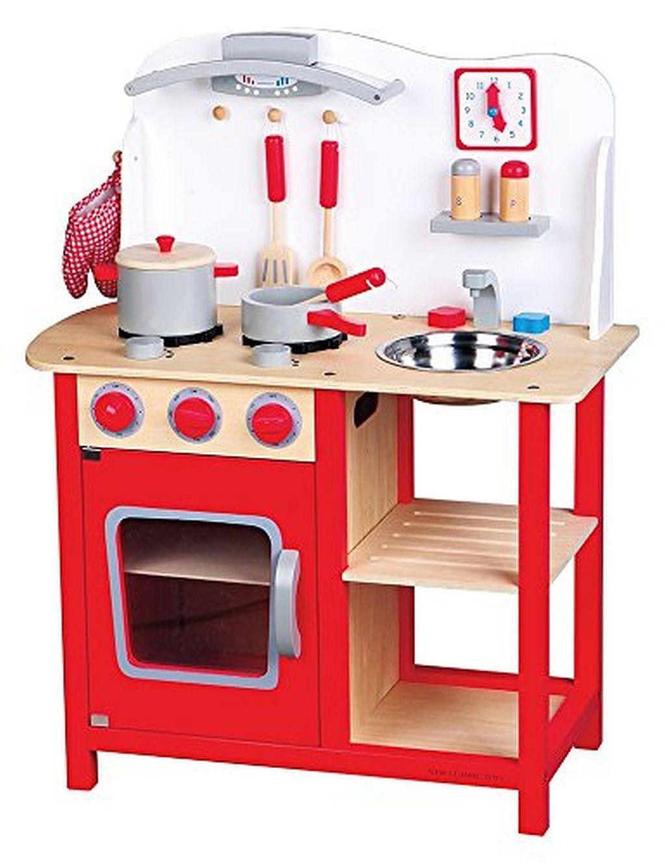 New Classic Toys 11055 - Küche mit Zubehör Spielküche aus Holz