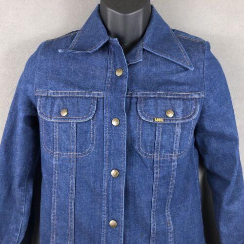 Ms Lee Jeans Denim Shirt Trucker Jacket Size 9/10