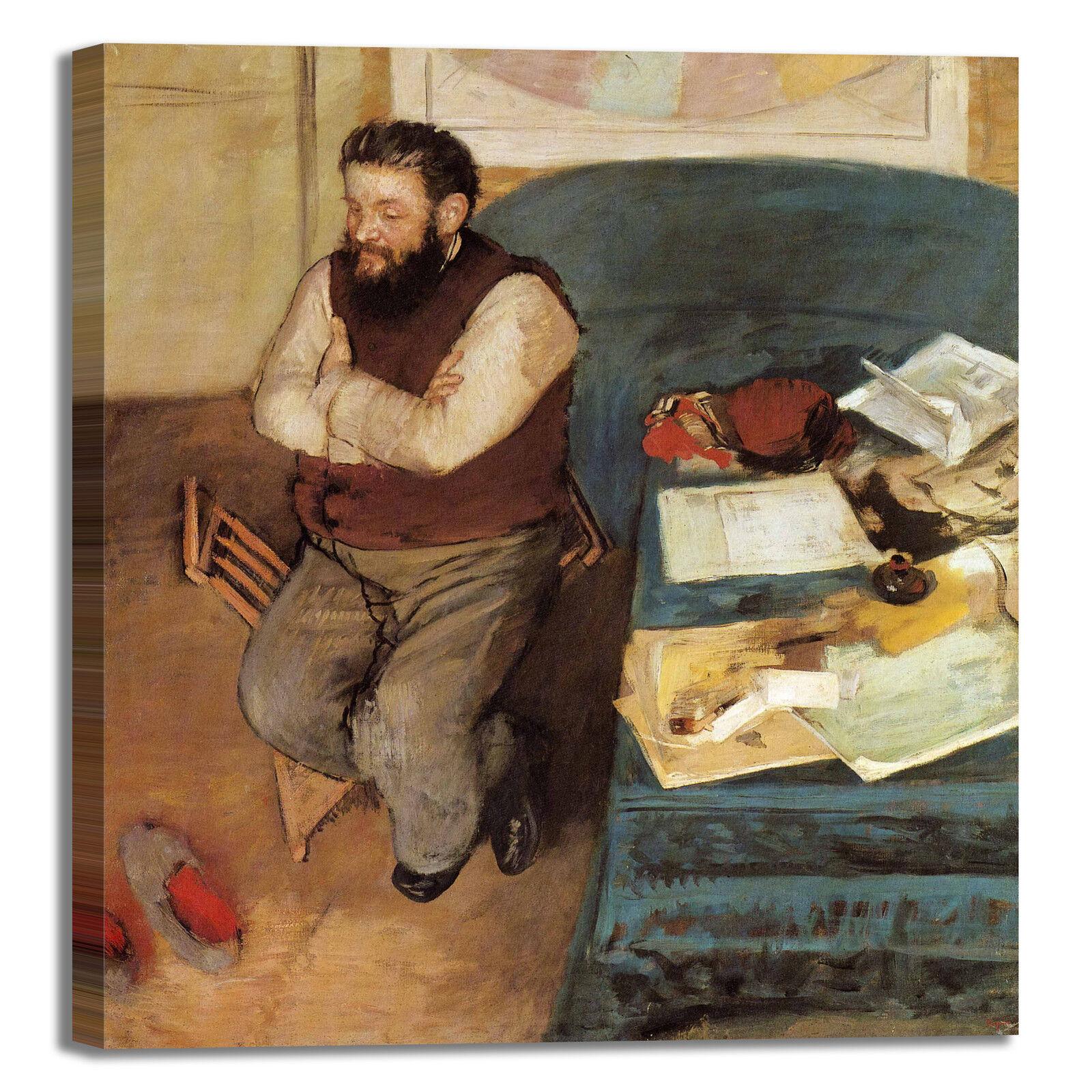 Degas Diego Martelli design quadro stampa tela tela tela dipinto telaio arrossoo casa fe84aa