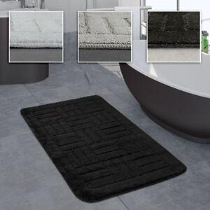 Details zu Badezimmer Teppich Badvorleger Kariertes Muster In Versch.  Größen u. Farben