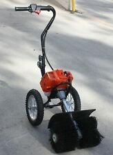 Hand Push 52cc Gas Power Broom Sweeper Cleaner Driveway Artificial Grass Snow