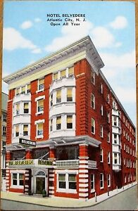 Atlantic-City-NJ-1930s-Postcard-Hotel-Belvedere-New-Jersey