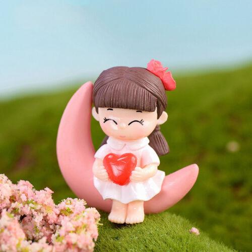 Moon Couple Miniature Figurine Fairy Garden Dollhouse Decor Micro Landscape Fad