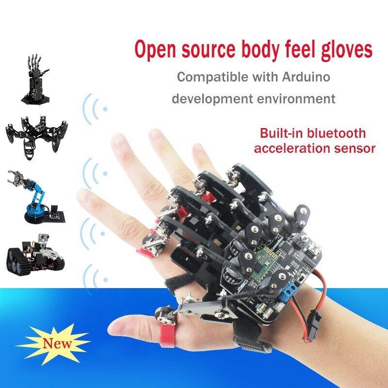 Robot mecánico de Vestir Guante de código abierto control de exoesqueleto somatosensorial