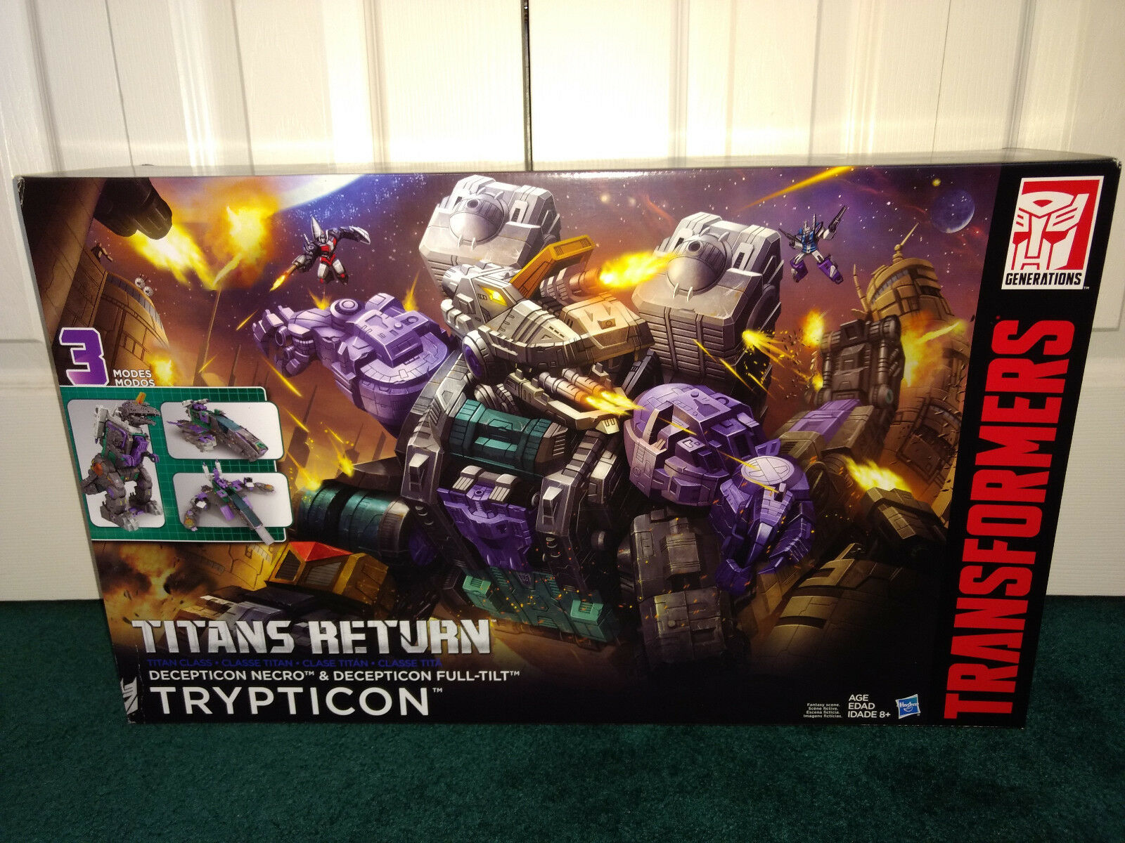 Trypticon Transformers Titans Return Hasbro 2016 MISP  Necro Full-Out Dinosaur