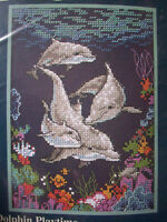Dolphin Playtime Dimensions Cross Stitch Kit 5 By 7