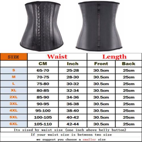 Men Women Latex Rubber Waist Trainer Boned Thermal Compression Body Shaper Belt