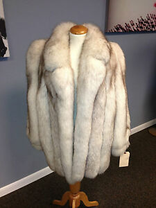 Norwegian Blue Fox Jacket With Notched Collar. Brand New!!! Ironed ...