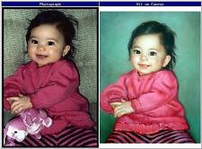 Customize Your Family Portrait , Pet Portrait Oil Painting on Canvas 20x24