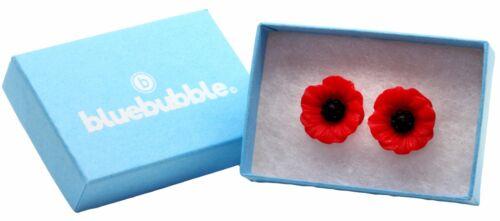 Bluebubble POPPY DAYS Carved Flower Stud Earrings Sweet Vintage Gift Boho Kitsch
