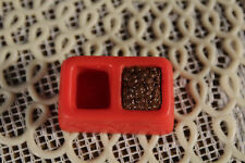 Vintage LIttest Pet Shop  Accessory Pet Shop Playset Red Feed Food Dish Water