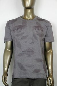 NEW-Authentic-Gucci-Gray-034-Kris-Knight-034-Graphic-Crew-Neck-T-Shirt-M-374442-1260