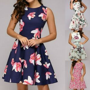 Womens-1950s-Vintage-Evening-Party-Swing-Dress-Ladies-Retro-Formal-Midi-Dresses