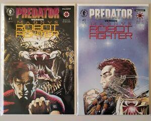 Predator-Vs-Magnus-Robot-Fighter-1-2-Complete-Set-Series-Run-Lot-1-2-VF-NM