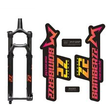 Marzocchi Bomber Generic 2006 Fork Suspension Sticker Decal Kit Adhesive Blue