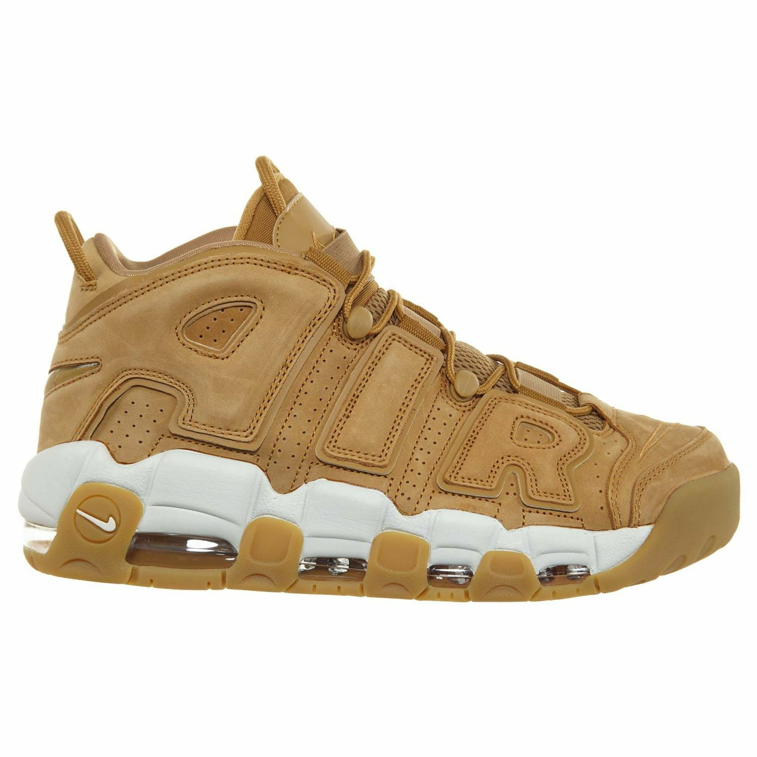 Nike Air More Uptempo '96 Premium Mens AA4060-200 Flax Gum Suede shoes Size 10