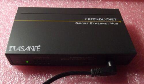 ASANTE FriendlyNet 8-Port Ethernet Hub FH10T8 with Adaptor