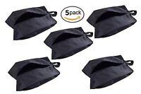 Travel Waterproof Nylon Shoe Bags With Zipper Closure Pack Of 5