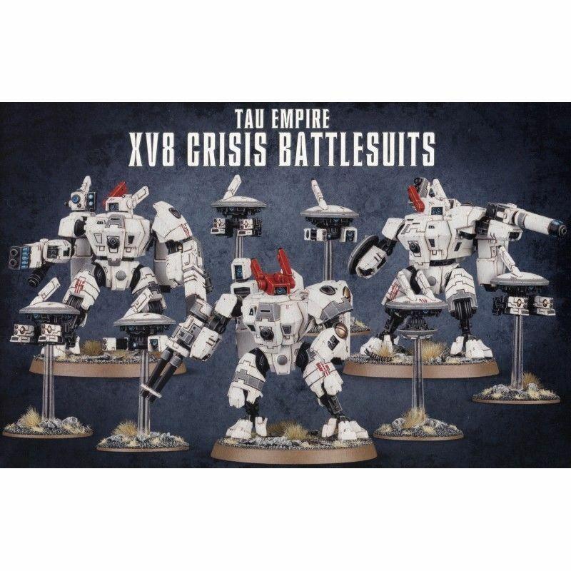 Warhammer 40K Imperio Tau XV8 crisis Battlesuits pistola Escudo markerlight drones