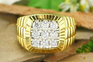 2-Ct-Round-Sim-Diamond-14K-Yellow-Gold-Engagement-Wedding-Band-Ring