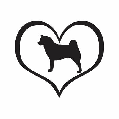 ebn1412 Love Akita Dog Heart Vinyl Decal Sticker Multiple Patterns /& Sizes