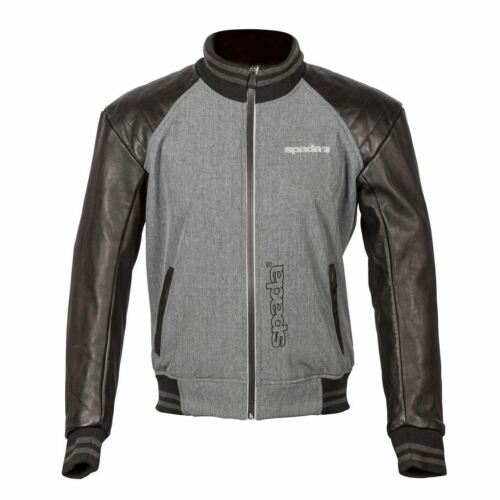 Spada Campus Yale Men/'s Summer Leather//Textile Jacket For Motorcycle Motorbike