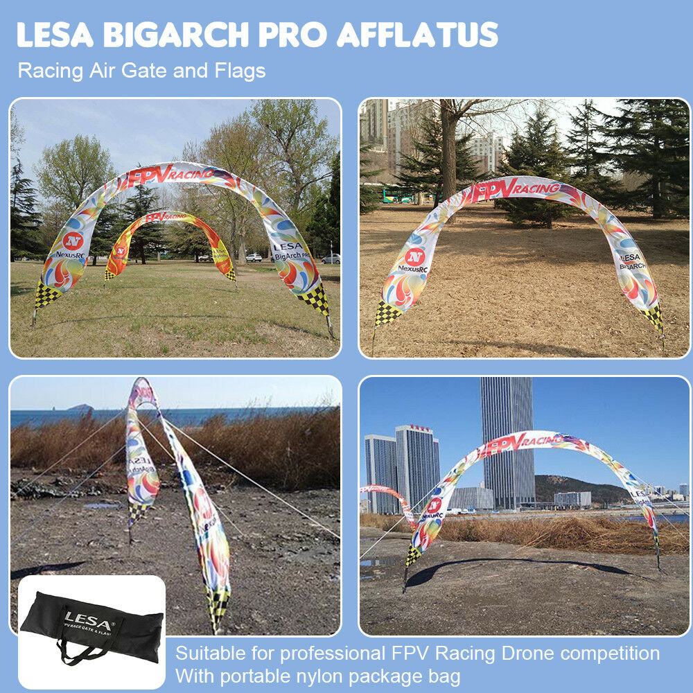LESA RC Accessories BigArch PRO Air Gate & Flags Afflatus for Drone O2V2