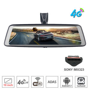 4g Smart Car Dvr Camera Android Rear View Backup Mirror Dash Cam Gps
