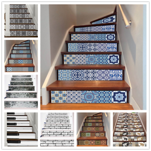 L And Stick Tile Backsplash Stair