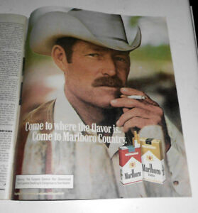 Details about 1981 Near Mint Print Ad Poster Marlboro Man Come to Where the  Flavor Is Cowboy