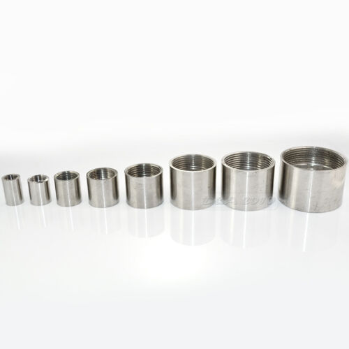 "1//2/"" 0.5/"" Female x Female Threaded Pipe Fitting Stainless Steel 304 BSPT"