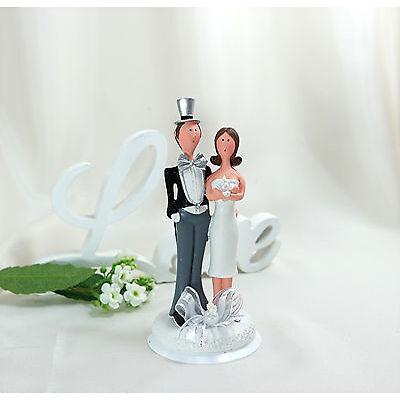 Tortendeko Tortenaufsatz mit Schleife Brautpaar Hochzeitspaar Hochzeit