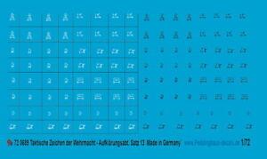 Peddinghaus-Decals 1//72 689 Taktische Zeichen Wehrmacht Aufklärungs Abt Satz 13