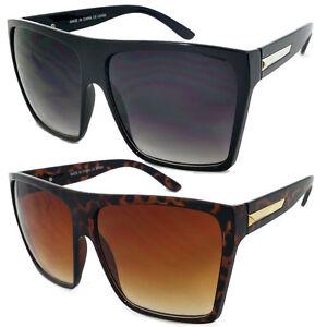 Image is loading Vintage-Retro-Aviator-Sunglasses-Men-Women-Oversized-Flat- 9ffc6275a8
