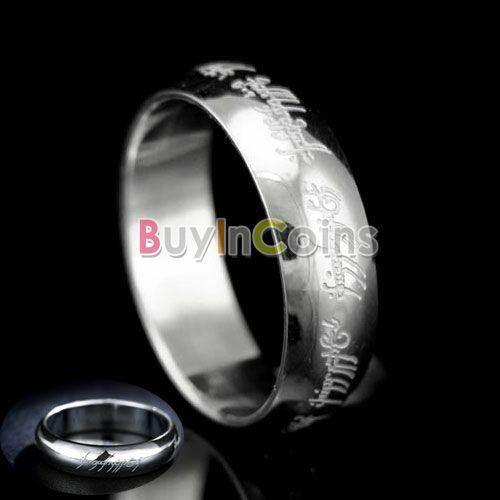Stainless Steel Magic Ring Celtic The Lord of the Rings 6MM HFAU