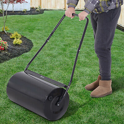 Heavy Duty Garden Lawn Roller Push Tow Water Sand Filled 46L Equipment