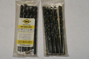 5 pcs TWILL Letter X Jobber Length HSS Twist Drills Black Oxide Brazil