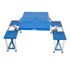 Lightweight Portable Folding Picnic Table With 4 Seats