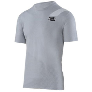 100% SLANT TECH TEE T-SHIRT MENS HEATHER GREY motocross mtb bike 100 ... 13bb5542f