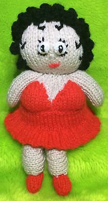 KNITTING PATTERN Betty Boop inspired chocolate orange cover 20 cms toy